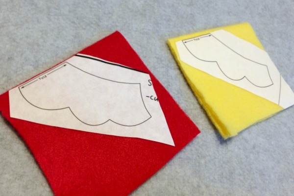 Freezer Paper is the Secret to Cutting Perfect Felt Shapes - ironed