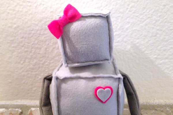 Robot Softie Mystery Challenge - sitting - Felt With Love Designs