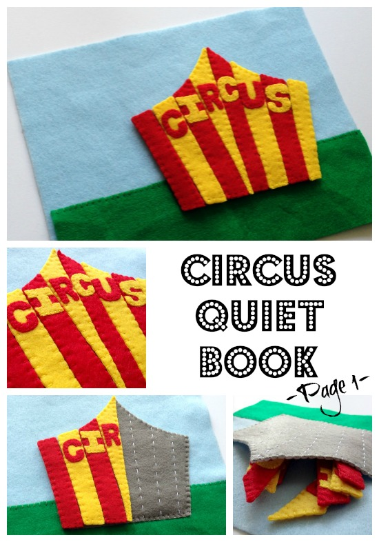 Circus Quiet Book Page 1