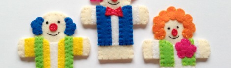 Circus Finger Puppets – Set 3 {Free Pattern}