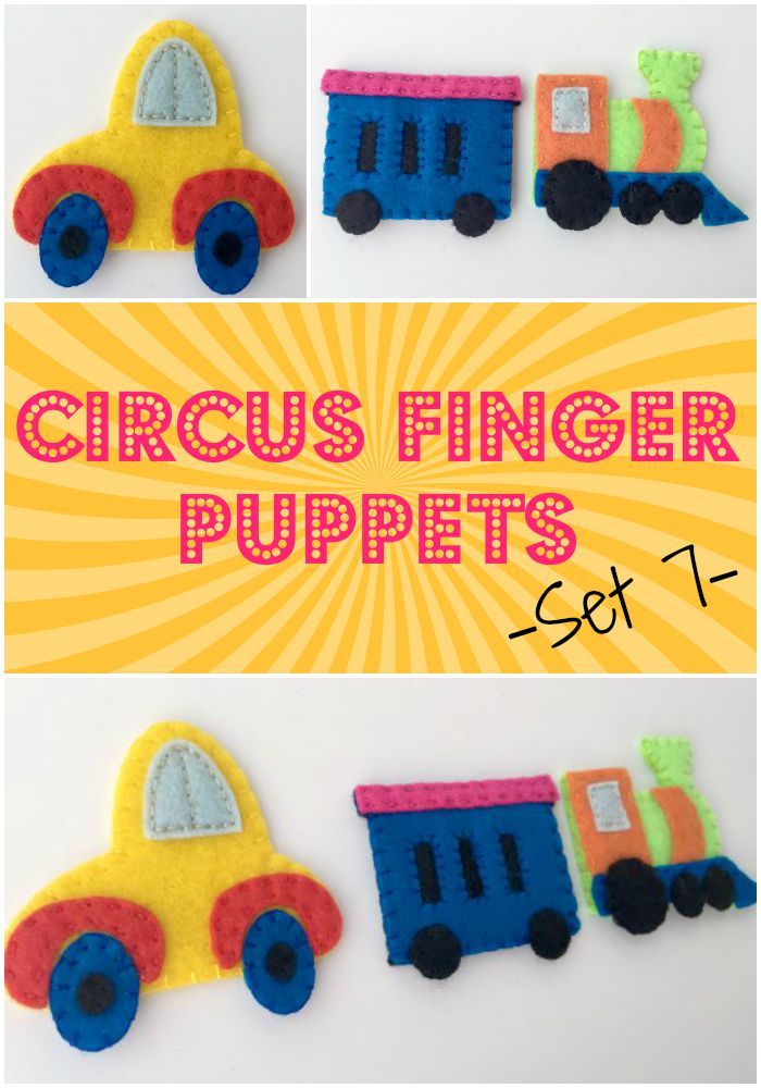 Circus Finger Puppets – Set 7 {Free Pattern} - Felt With Love Designs