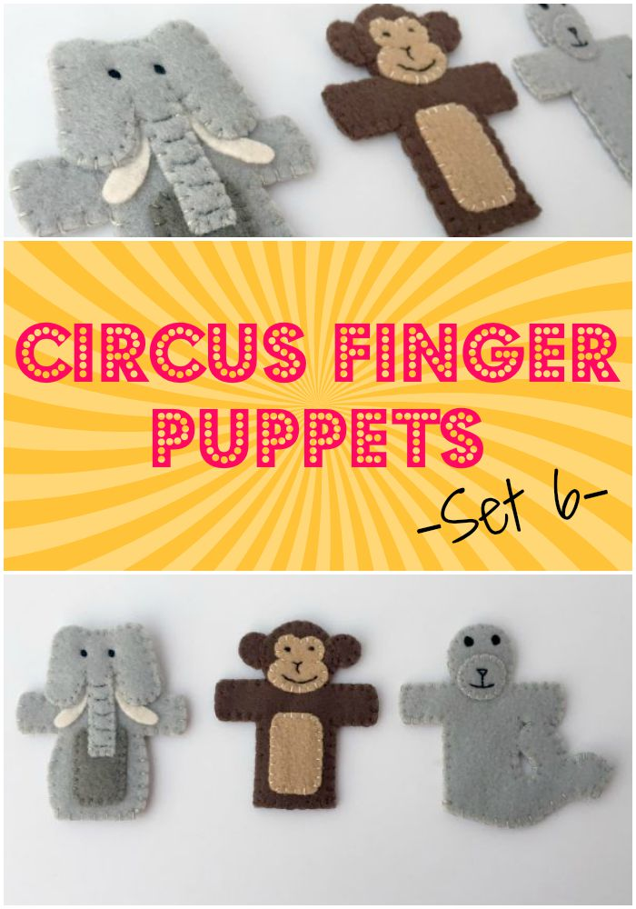 Circus Finger Puppets - set 6