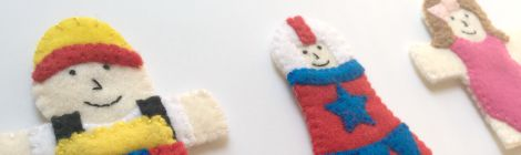 Circus Finger Puppets – Set 4 {Free Pattern}