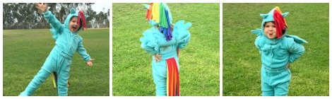 DIY Rainbow Dash Halloween Costume