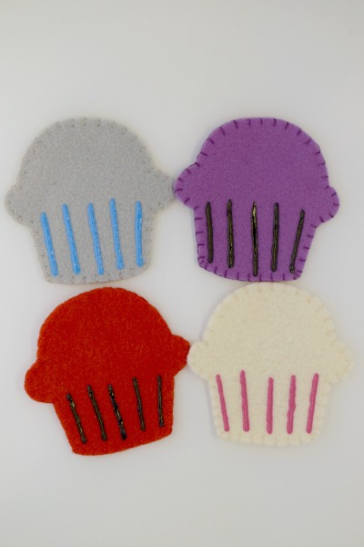 Cupcake Wrappers - One Thimble Issue 9 Blog Tour - Festive Felties