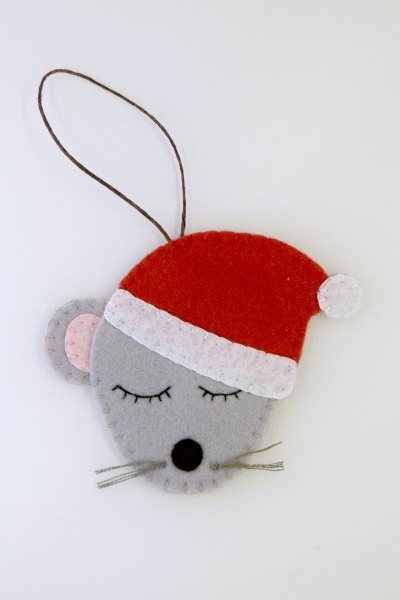 Mouse - One Thimble Issue 9 Blog Tour - Festive Felties
