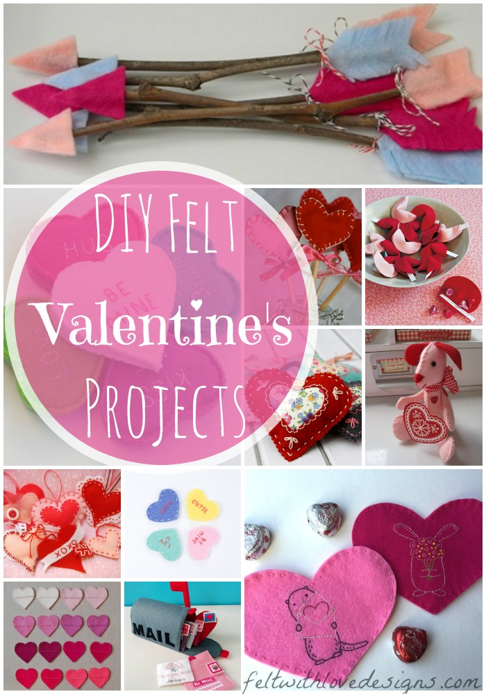 DIY Felt Valentineu0027s Projects And Free Patterns   Felt With Love Designs