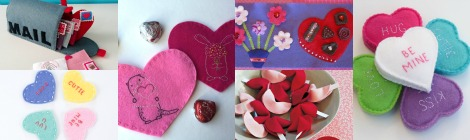 DIY Felt Valentine's Projects and Free Patterns