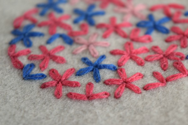 Lazy Daisy Stitch Try Something New Every Month Felt With Love