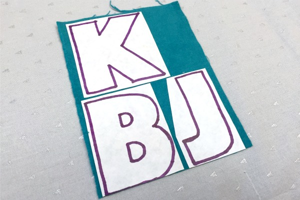 How to Use Freezer Paper for Appliqué - step 2 - No Scrap Left Behind