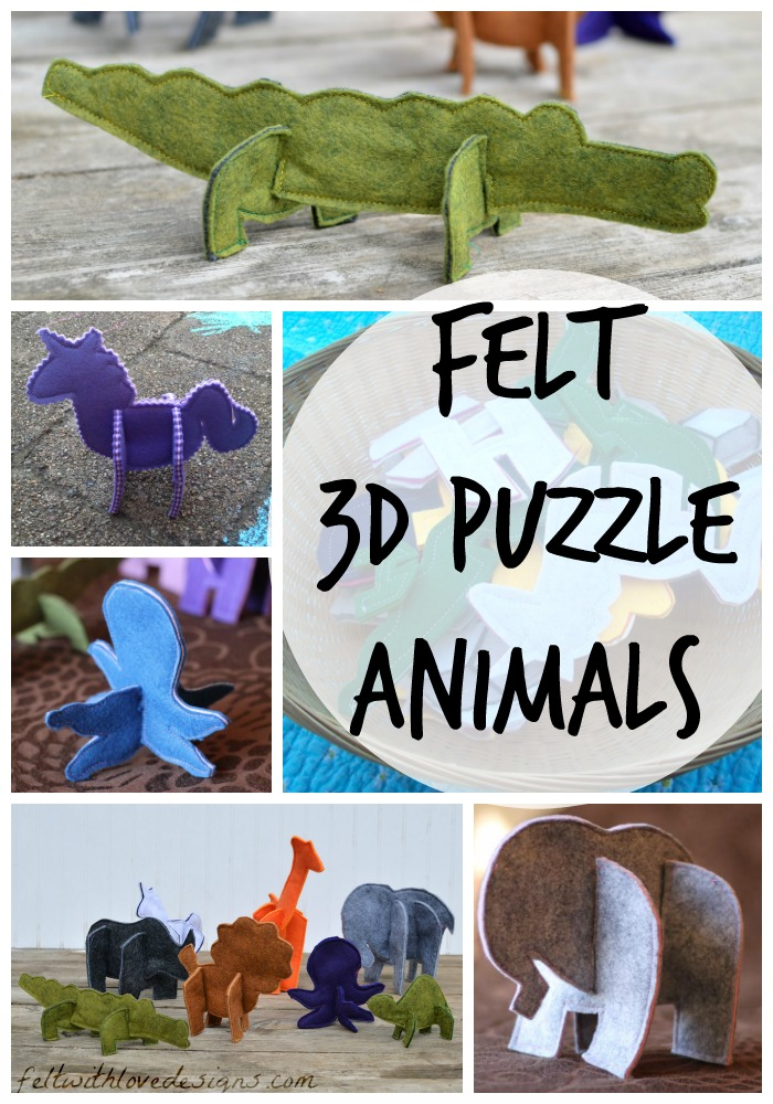 Felt 3D Puzzle Animals - Testers Photos - Felt With Love Designs