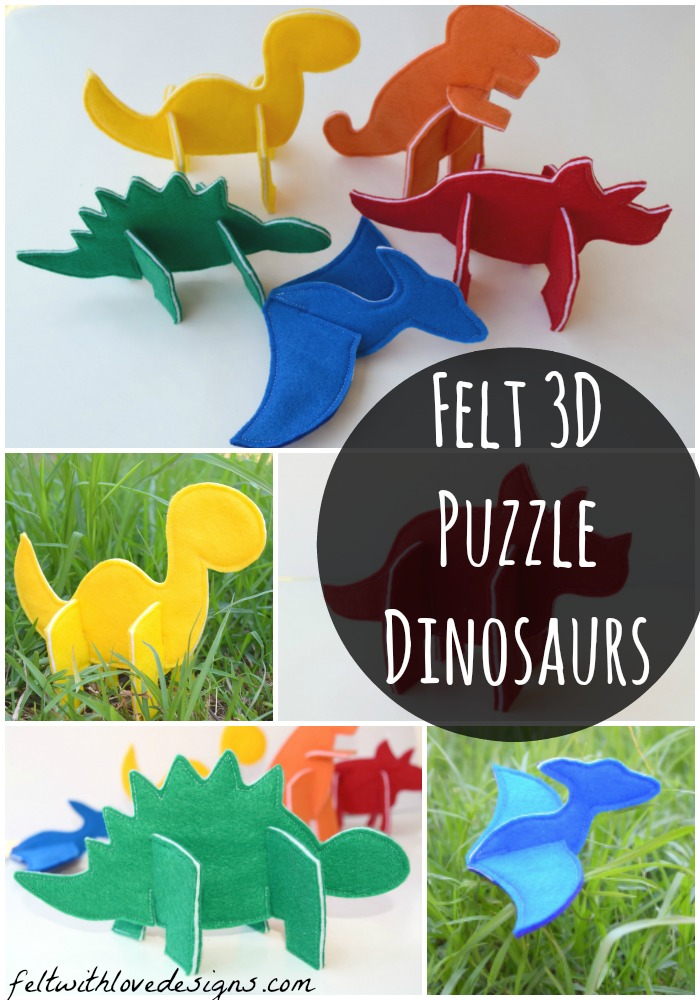 Felt Puzzle Dinosaurs - Felt With Love Designs