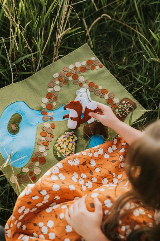 Enchanting Woodland Meadow Playscape Pattern-Felt With Love Designs-1