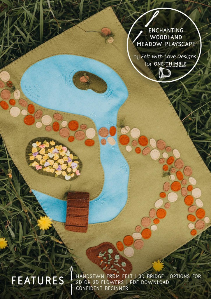Enchanting Woodland Meadow Playscape Pattern-Felt With Love Designs-cover