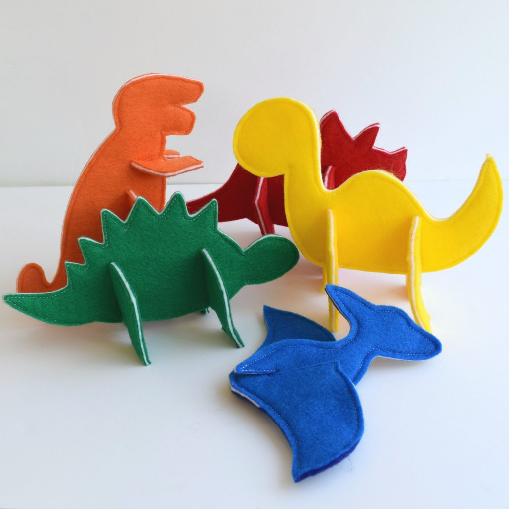 3D Puzzle Dinosaurs Felt With
