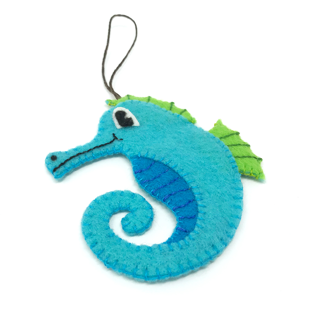 felt christmas ornaments - Seahorse Christmas Ornament