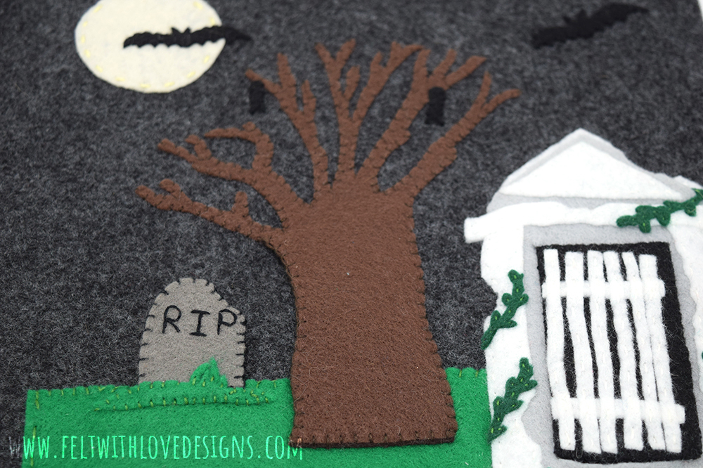 Halloween Quiet Book Page - Cemetery Lift the Flap Quiet Book Page