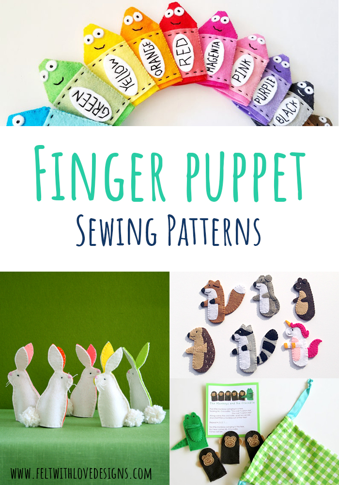 Felt Finger Puppets to Sew - Finger Puppet Sewing Patterns