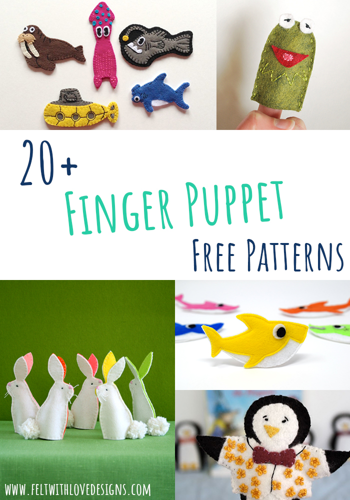 Free Finger Puppet Patterns to Sew - Finger Puppet Free Sewing Patterns - Felt With Love Designs