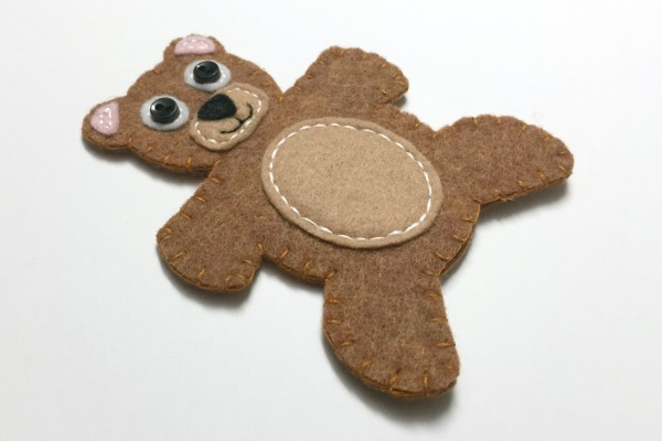 Newsletter Exclusive Teddy Bear Finger Puppet - Felt With Love Designs