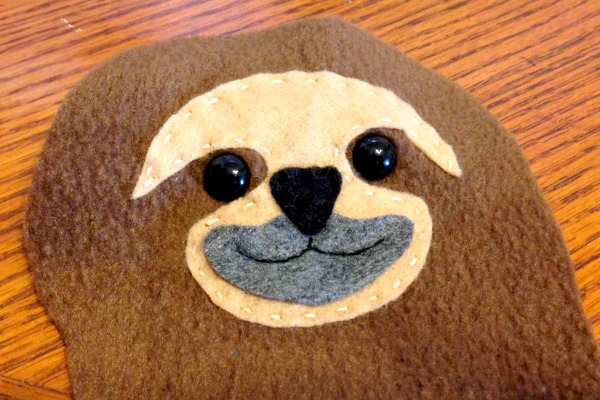 Sloth Blankie Buddy - eyes - Felt With Love Designs