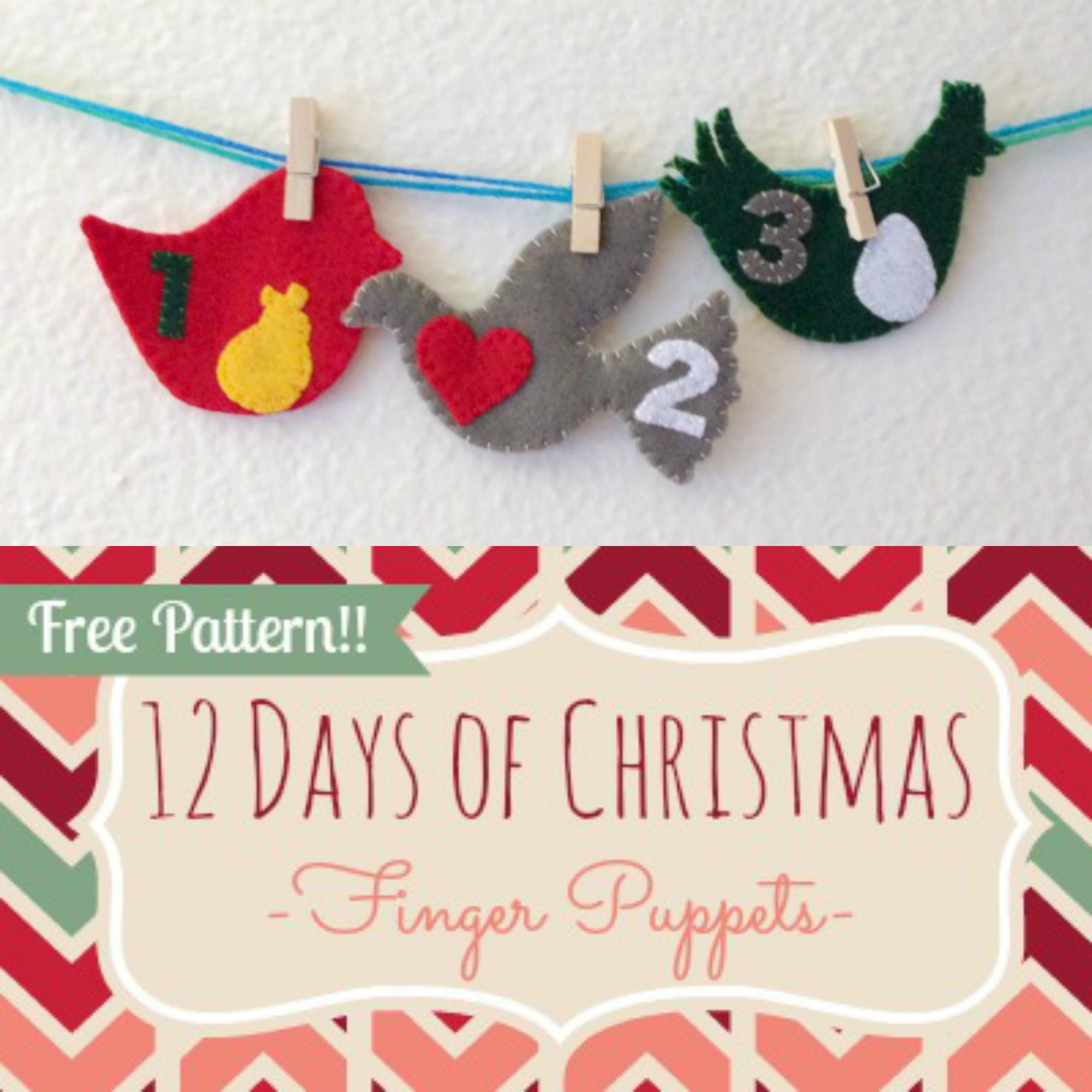 12 Days Of Christmas Finger Puppets Day 3 Tutorial