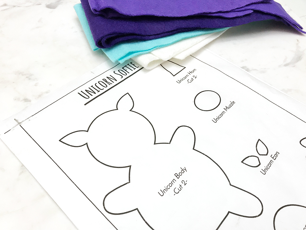 The Secret to Cutting Perfect Felt Shapes - felt stack and printed pattern