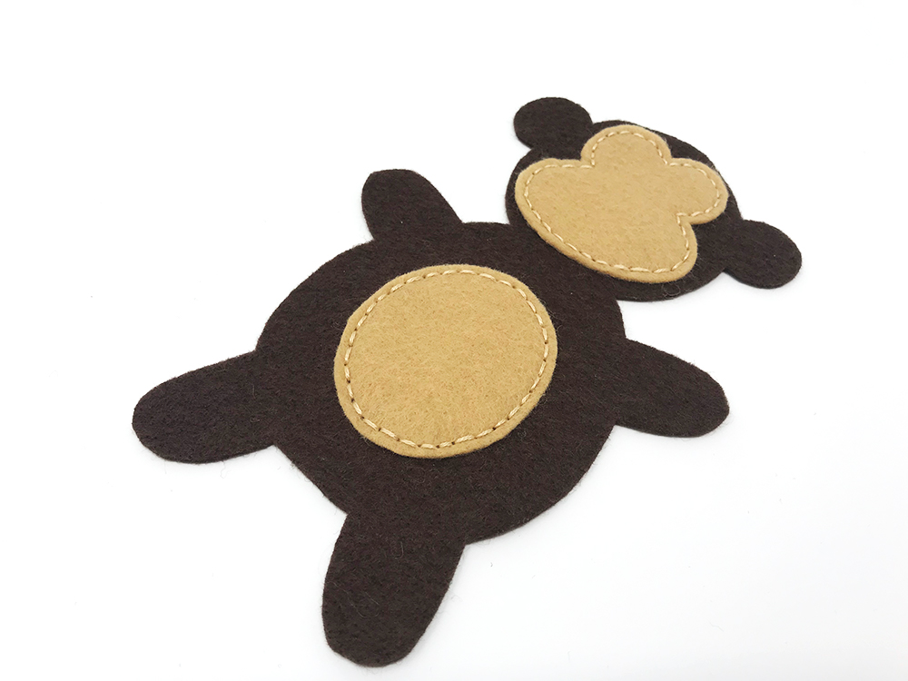 Mini Monkey Softie Free Pattern - Face and Tummy - Felt With Love Designs