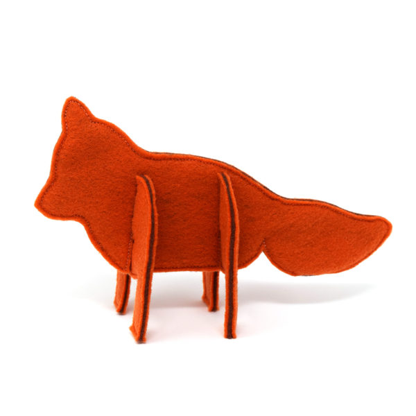Woodland Felt 3d Puzzle Animals Sewing Pattern - fox