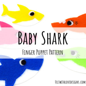 Baby Shark Finger Puppet Free Pattern and Tutorial